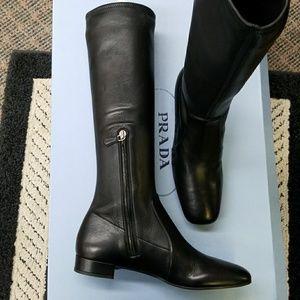 Prada new boots 37.5 Italy boots skinny calf